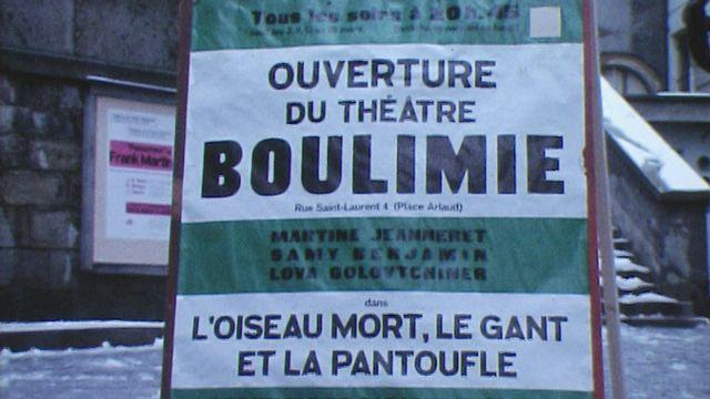 Un Théâtre pour Boulimie en 1970. [RTS]