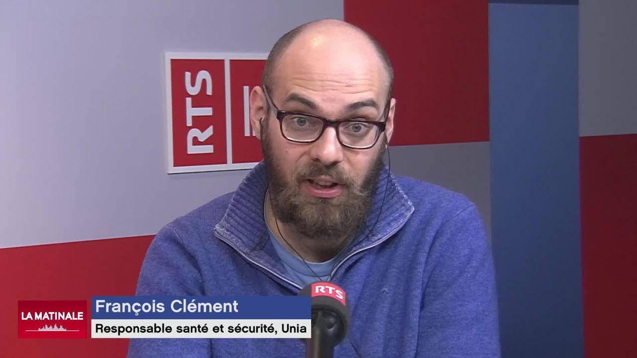 Pour François Clément d'Unia, la pression est croissante dans le domaine de la construction (vidéo) [RTS]