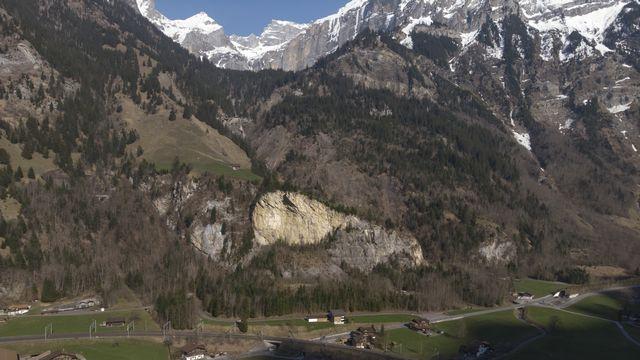 Le dépôt de munitions est enfoui sous la montagne à côté de Mitholz (BE). [Adrian Reusser - Keystone]