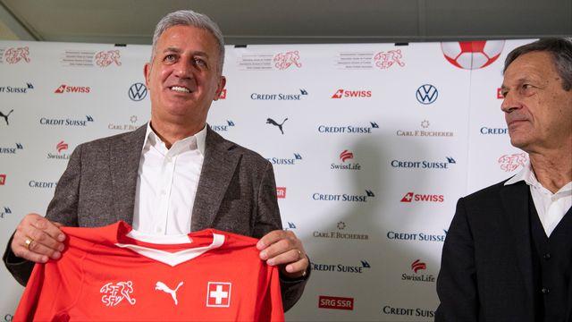 Petkovic est à la tête de l'équipe de Suisse depuis 2014. [Urs Lindt - Freshfocus]