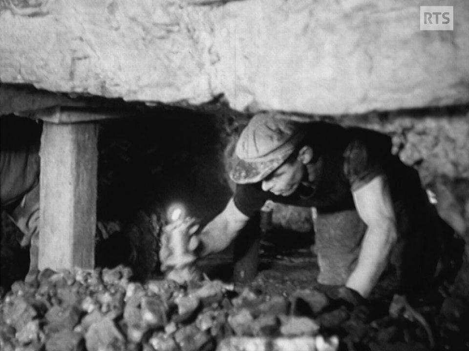 Mineur dans une mine de charbon en Suisse [RTS]