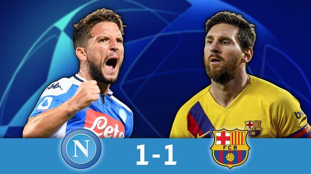 1-8 aller, Naples - Barcelone (1-1): Messi et le Barça accrochés par Naples
