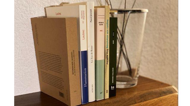 Les six livres sélectionnées. [Laure Maiburg]