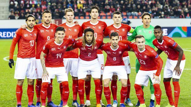 L'équipe de Suisse, ici avant l'un de ses meilleurs matches, contre la Belgique en novembre 2018, veut réussir son Euro. Mais avec quels joueurs? [Aladin Klieber - Keystone]