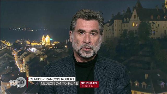 """Claude-François Robert """"On a déjà tout fait pour interrompre la propagation du virus et on veille au suivi de ces personnes."""" [RTS]"""