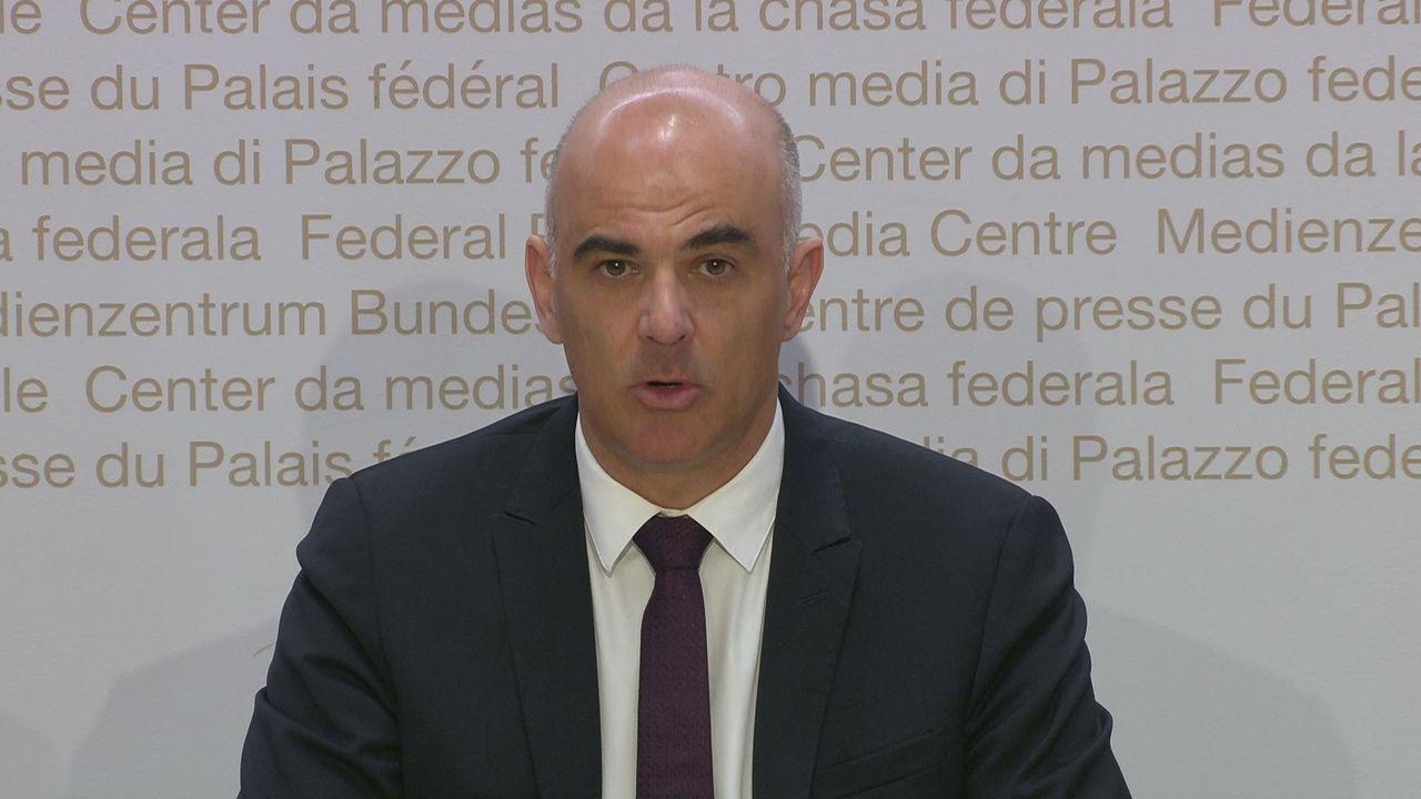 La conférence de presse d'Alain Berset sur les mesures contre le coronavirus [RTS]
