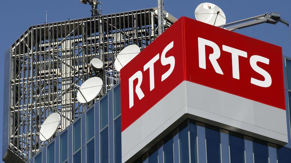 Vue de la tour de la Radio Télévision Suisse, RTS, à Genève. [SALVATORE DI NOLFI - KEYSTONE]