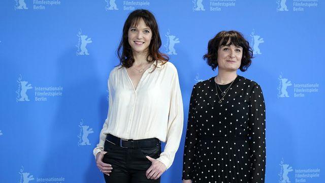 Véronique Reymond et Stéphanie Chuat le 24 février 2020 lors de la 70e Berlinale. [Ronald Wittek - Keystone]