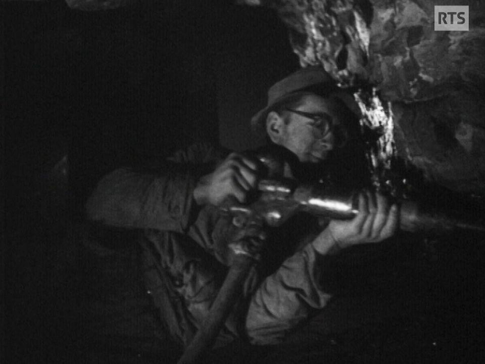 Mineur dans une mine de charbon en Suisse