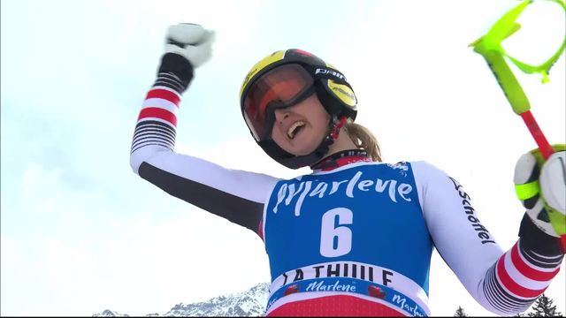 Thuile (ITA), Super G dames: Nina Ortlieb (AUT) [RTS]