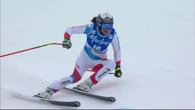 Thuile (ITA), Super G dames: Wendy Holdener (SUI) [RTS]