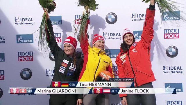 Skeleton, championnat du monde: médaille d'argent pour Marina Gilardoni (SUI), victoire de Tina Hermann (GER) [RTS]