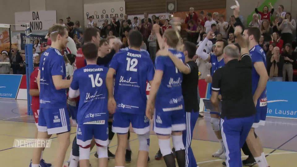 Volleyball, demi finales des playoffs: victoire du LUC face à Chênois (25-17, 25-19, 25-17) [RTS]