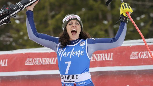 Federica Brignone a remporté les deux combinés disputés cette saison. [AP Photo/Alessandro Trovati - Keystone]