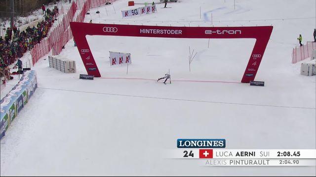 Hinterstoder (AUT), combiné messieurs, slalom: un parcours décevant pour Aerni (SUI) [RTS]