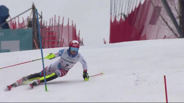 Hinterstoder (AUT), combiné messieurs, slalom: Loic Meillard (SUI) [RTS]