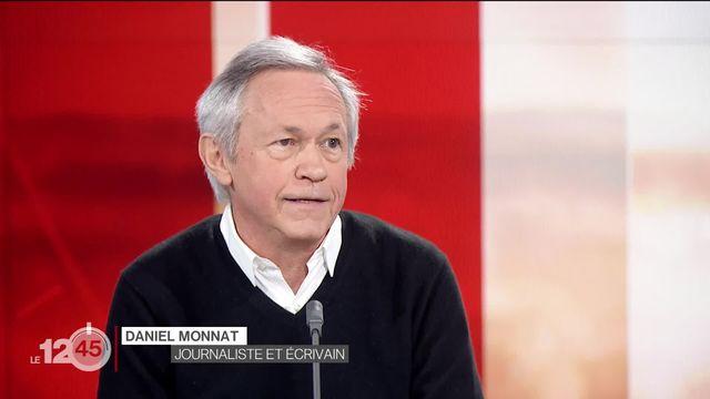 """Le journaliste Daniel Monnat présente """"La faute"""", un roman qui questionne le rôle de la Suisse pendant la guerre de 39-45. [RTS]"""