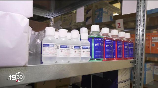 Coronavirus: des pharmacies sont prises d'assaut. Des clients sont en quête de masques et de désinfectants pour les mains [RTS]