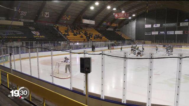 Coronavirus: en hockey sur glace, des clubs doivent jouer à huis clos. Les supporters sont ainsi privés de patinoire. [RTS]