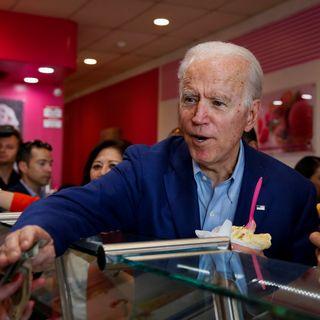 """L'ancien vice-président et candidat démocrate Joe Biden à Los Angeles en Californie, le jour du """"Super Tuesday"""". [Elizabeth Frantz - Reuters]"""