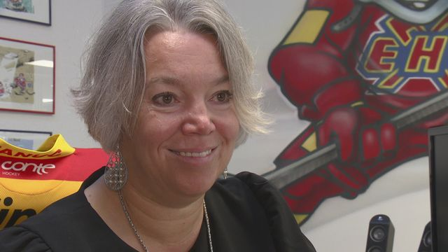 Stéphanie Mérillat, vice-présidente du HC Bienne. [RTS]