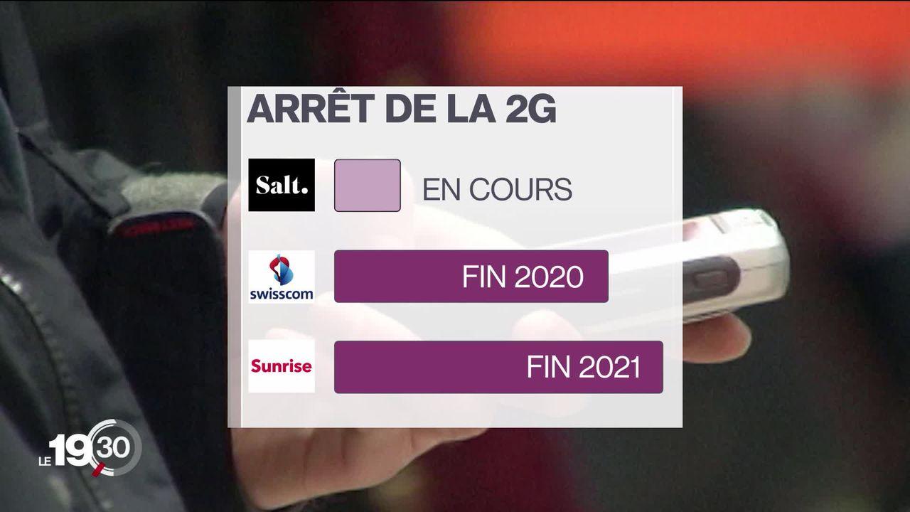 La 2G va disparaître des antennes téléphoniques suisses d'ici 2021. Cette technologie a permis l'accès à la téléphonie mobile. [RTS]