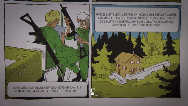 """La """"dzodzet connection"""", l'affaire des Paccots, revue par une bande dessinée [RTS]"""