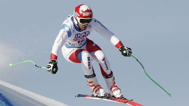 Carlo Janka monte pour la deuxième fois de la saison sur le podium. [Gabriele Facciotti - Keystone]