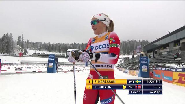 Ski de fond, 30 km classique dames, Oslo (NOR): Fähndrich (SUI) finit 10e, victoire surprise de Karlsson (SWE) [RTS]