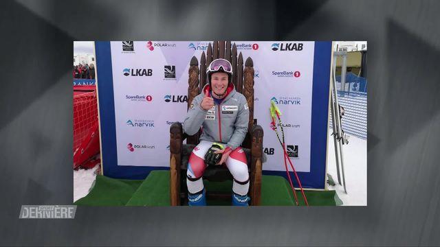 Ski, descente messieurs, Narvik (NOR): Alexis Monney  décroche la médaille d'or  aux Mondiaux juniors [RTS]