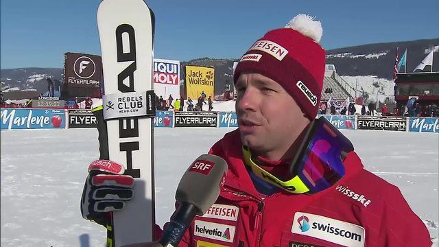 Ski: la réaction de Beat Feuz après avoir remporté le globe de cristal de la descente [RTS]