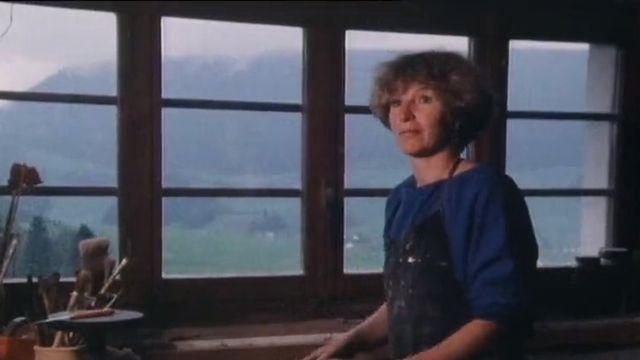 Françoise Roesch dans son atelier. [RTS]