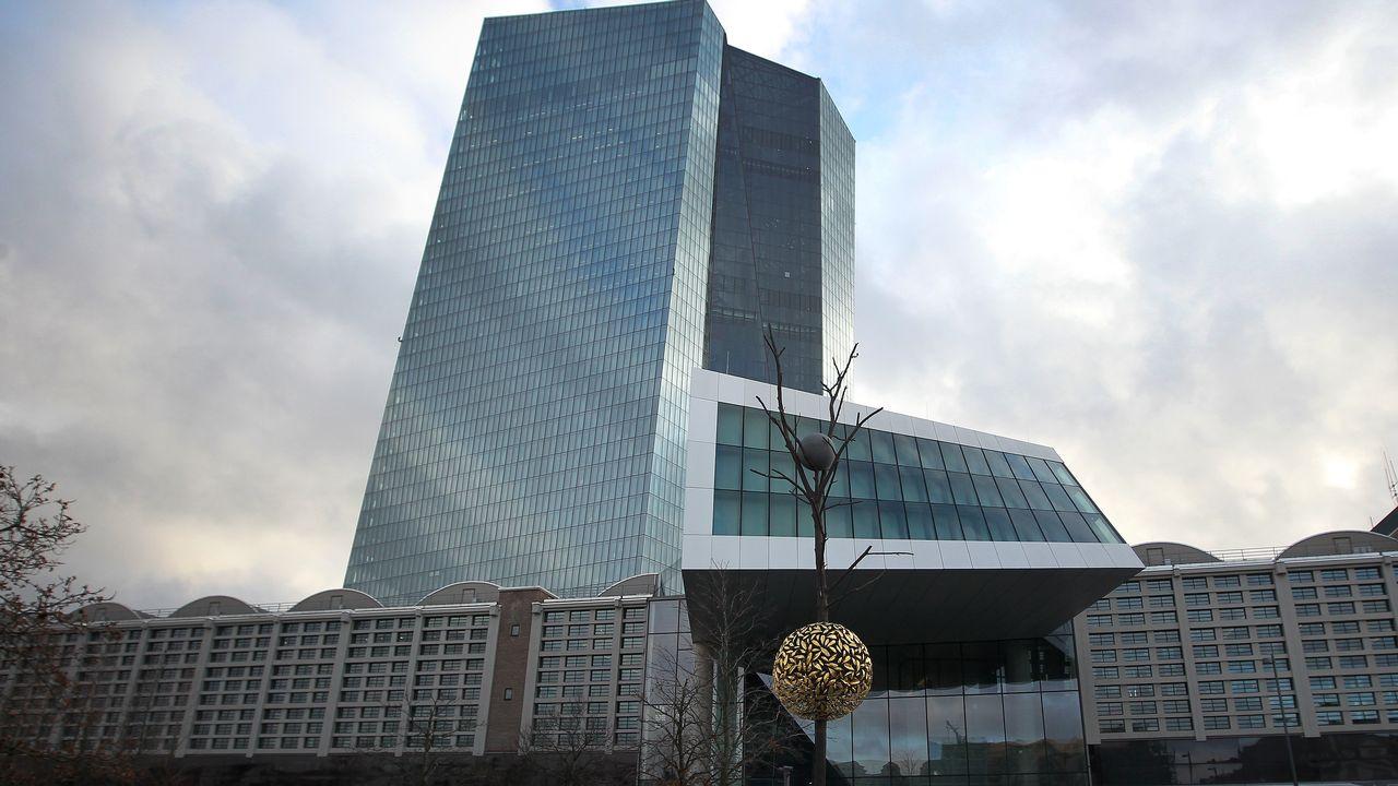 Le siège de la Banque centrale européenne (BCE) à Francfort en Allemagne. [Daniel Roland - AFP]