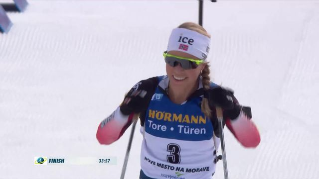 Nove Mesto (CZE), mass start dames: Tiril Eckloff (NOR) remporte l'épreuve [RTS]