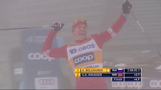 Oslo (NOR), 50km messieurs, Alexander Bolshunov (RUS) s'impose, Dario Cologna (SUI) 6e [RTS]