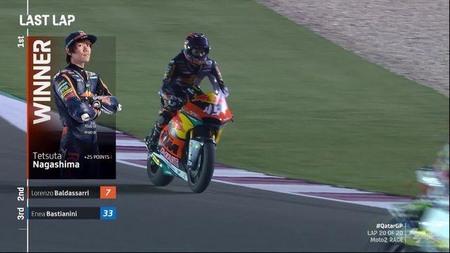 GP du Qatar (#1), Moto2: Tetsuta Nagashima (JAP) remporte le 1er GP de sa carrière [RTS]