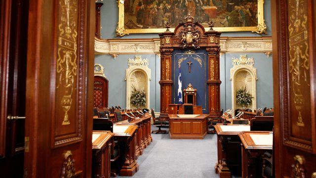 """""""Salon bleu"""" - Parlement du Québec. [Parlement du Québec/DR - Parlement du Québec/DR]"""