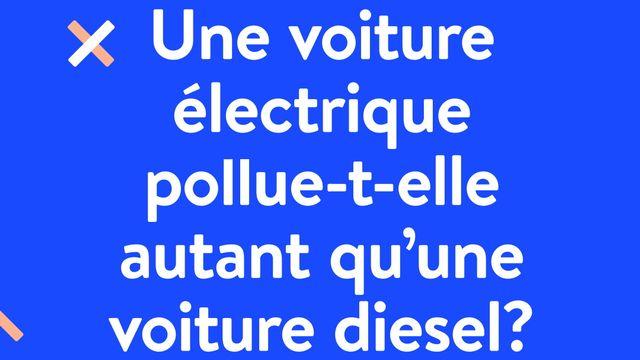 Fake News: une voiture électrique pollue-t-elle autant qu'une voiture diesel? RTS [RTS]