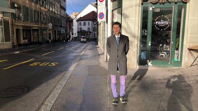 Lionel Baier à Lausanne. [RTS]
