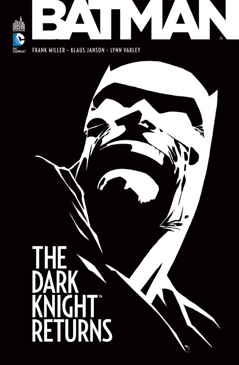"La couverture de la BD ""Batman The Dark Knight Returns"" de Frank Miller sortie en 1986."