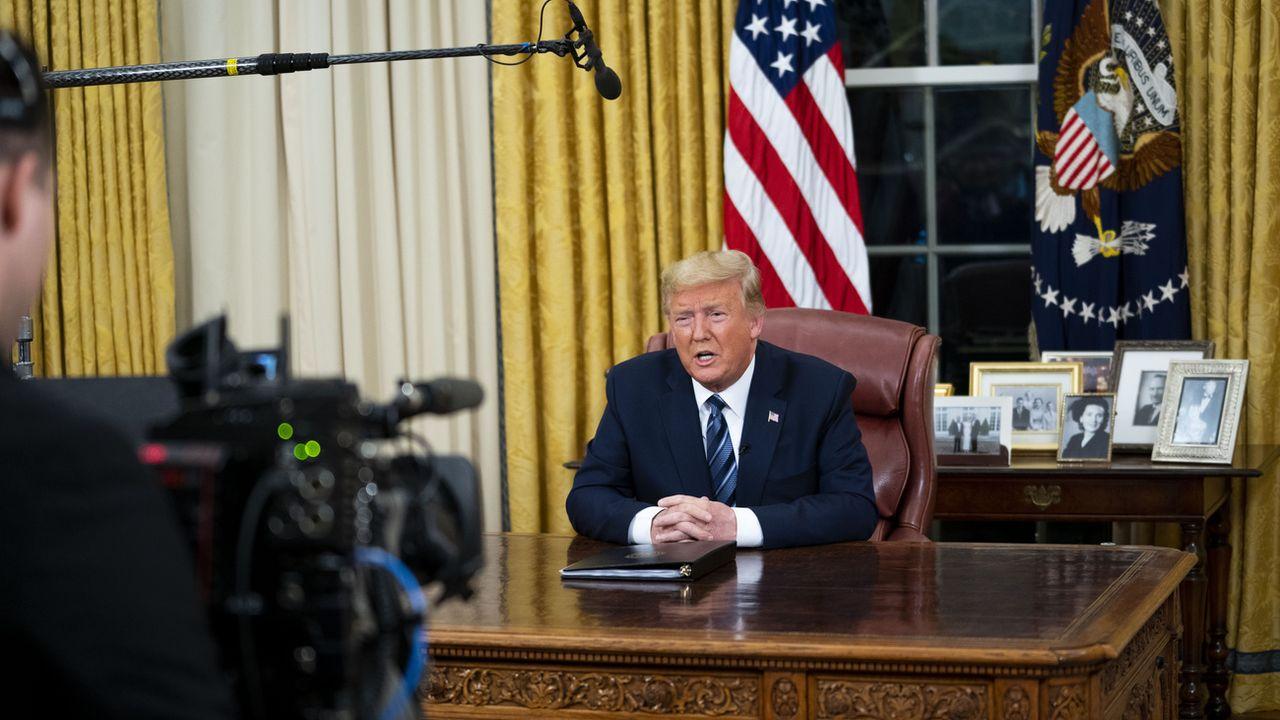 Donald Trump lors de son discours à la nation. [Doug Mills - Keystone/AP]