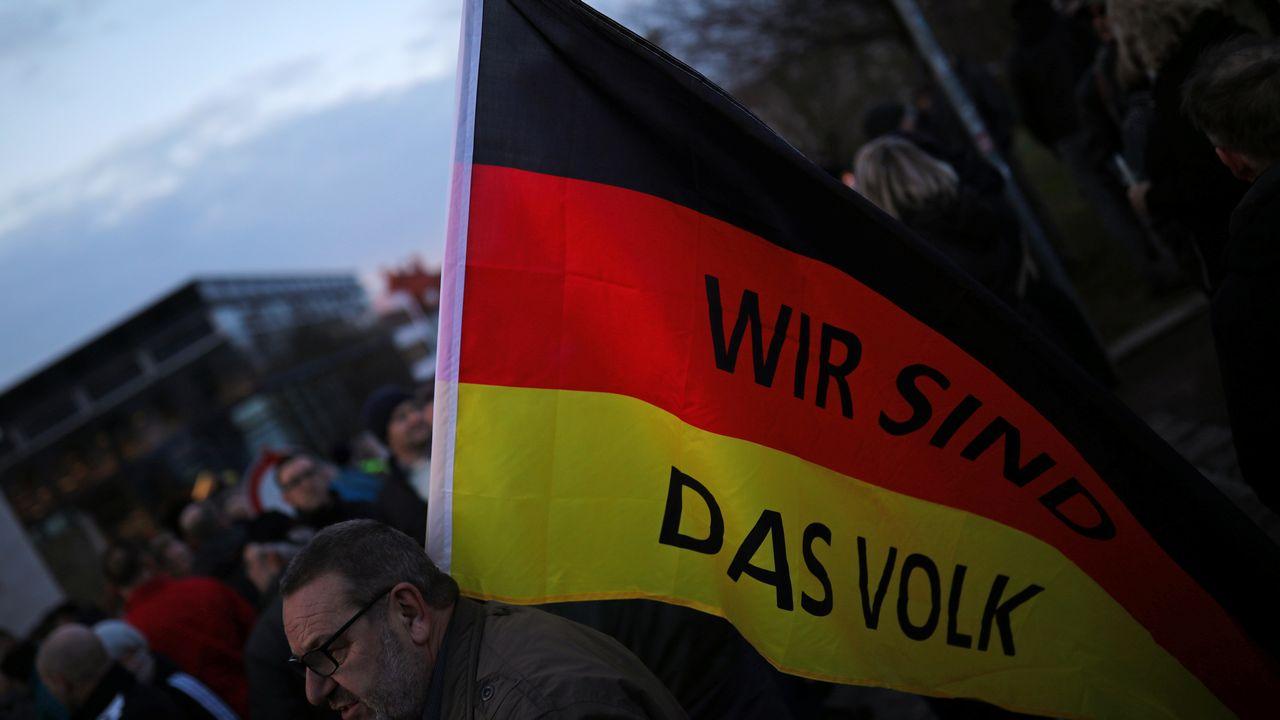 Pour le renseignement allemand, l'extrême droite menace la démocratie. [Hannibal Hanschke - Reuters]