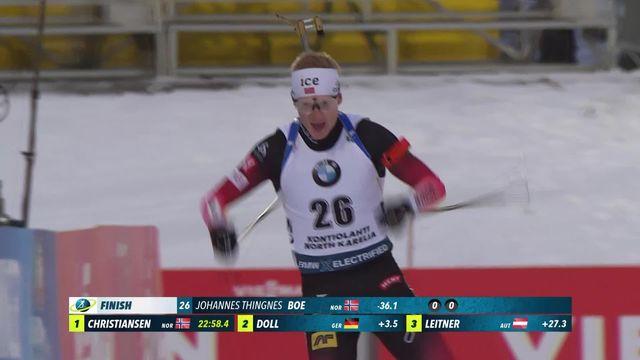 Kontiolahhti (FIN), sprint messieurs: victoire de Johannes Thingnes Bø (NOR) [RTS]