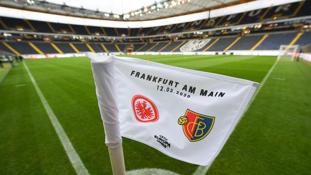 "Les Bâlois ""recevront"" l'Eintracht Francfort dans son antre. [Arne Dedert - Keystone]"
