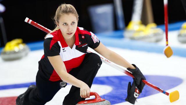 Elena Stern et les Suissesses devaient représenter la Suisse au Canada. [Valentin Flauraud - Keystone]