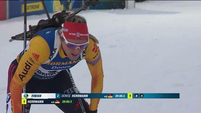 Kontiolahti (FIN), sprint dames: la victoire pour Denise Herrmann (GER) [RTS]