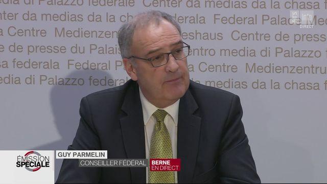 Coronavirus: le message du conseiller fédéral Guy Parmelin (économie) dans le domaine du sport [RTS]