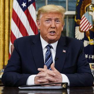 Donald Trump s'était déjà ardessé aux Américains depuis le Bureau ovale le 11.03.2020. [Doug Mills - Pool/The New York Times/AP/Keystone]
