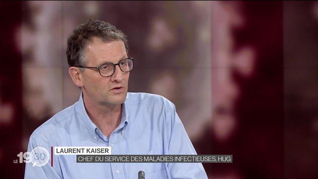 Cesla Amarelle et Laurent Kaiser évoquent les mesures contre la propagation du coronavirus. [RTS]