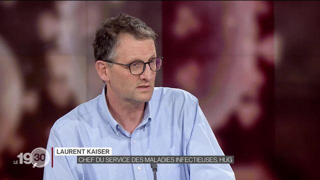 Laurent Kaiser, chef du Service des maladies infectieuses des HUG, décrypte l'efficacité des mesures pour limiter la propagation du Covid-19. [RTS]